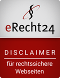 eRecht 24 Siegel Disclaimer